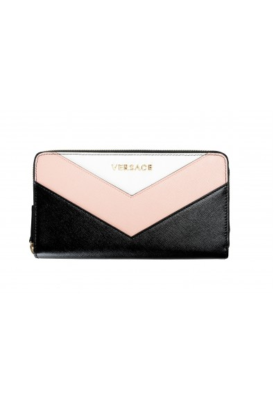 Versace Women's Multi-Color Saffiano Leather Zip Around Wallet