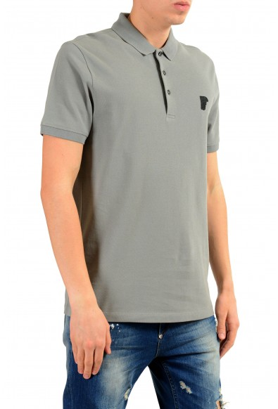 Versace Collection Men's Gray Short Sleeve Polo Shirt: Picture 2