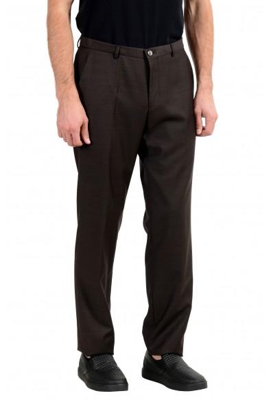 "Hugo Boss ""C-Jeys1/C-Shaft1"" Men's 100% Wool Brown Dress Pants : Picture 2"