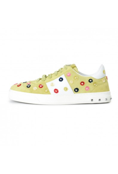 Valentino Garavani Women's Suede Leather Embellished Fashion Sneakers Shoes: Picture 2