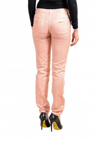 Just Cavalli Women's Pink Corduroy Coated Skinny Leg Jeans: Picture 2