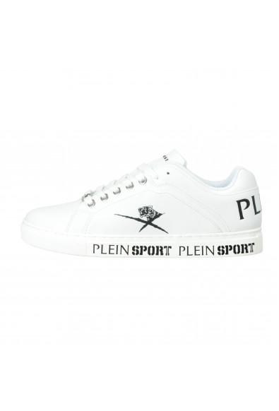 "Plein Sport ""Julian"" White Low Top Fashion Sneakers Shoes: Picture 2"