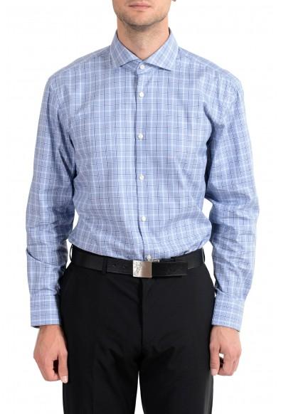 "Hugo Boss ""Mark US"" Men's Plaid Sharp Fit Long Sleeve Dress Shirt"
