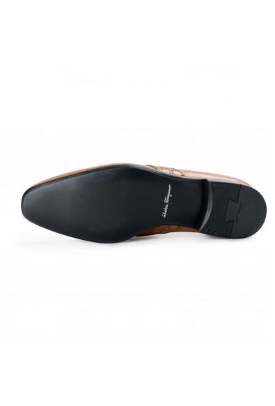 "Salvatore Ferragamo Men's ""Goliath"" Hazelnut Brown Leather Slip On Loafers Shoes: Picture 2"