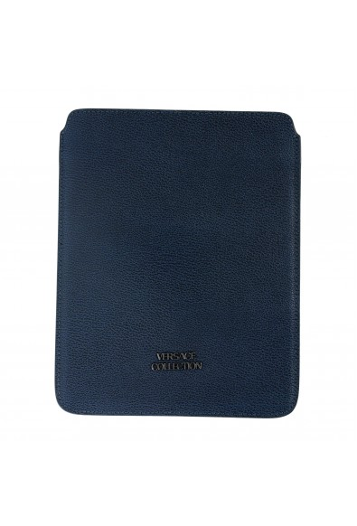 Versace Collection Navy Blue Textured Leather Cover Case