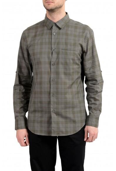 John Varvatos Multi-Color Checkered Long Sleeve Men's Casual Shirt