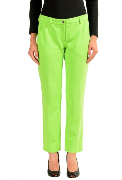 Versace Collection Green Women's Casual Pants
