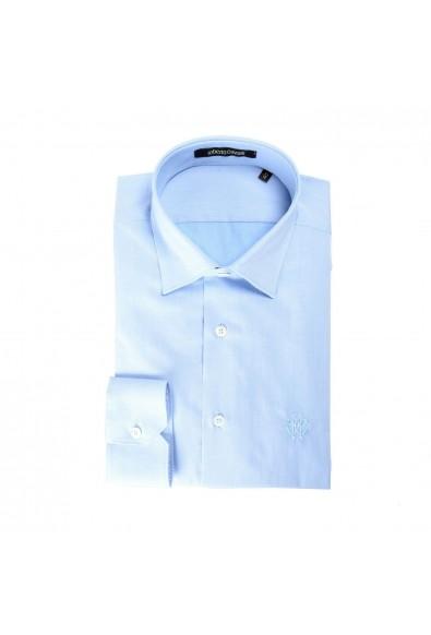 Roberto Cavalli Men's Light Blue Slim Long Sleeve Dress Shirt