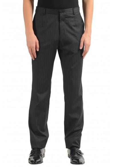 Dolce & Gabbana Men's 100% Wool Striped Dress Pants