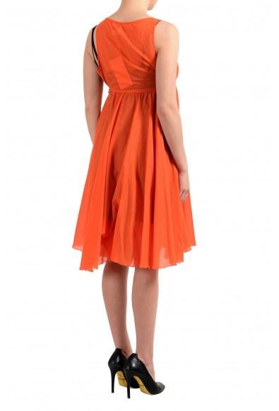 Versace Jeans Couture Women's Orange Sleeveless Dress Sundress : Picture 2
