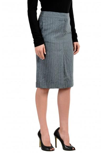 Malo Women's Linen Silk Striped Straight Skirt : Picture 2