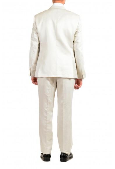 "Hugo Boss ""Helward3/Gelvin_1"" Men's Linen Silk White Slim Tuxedo Two Button Suit: Picture 2"