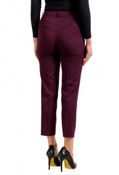 "Hugo Boss Women's ""Tavela"" Purple Wool Flat Front Dress Pants : Picture 2"