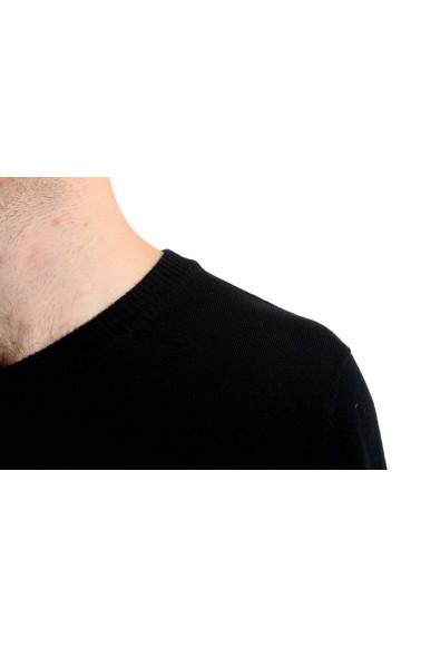 """Emporio Armani EA7 """"Ski"""" Men's 100% Wool Black V-Neck Sweater: Picture 2"""