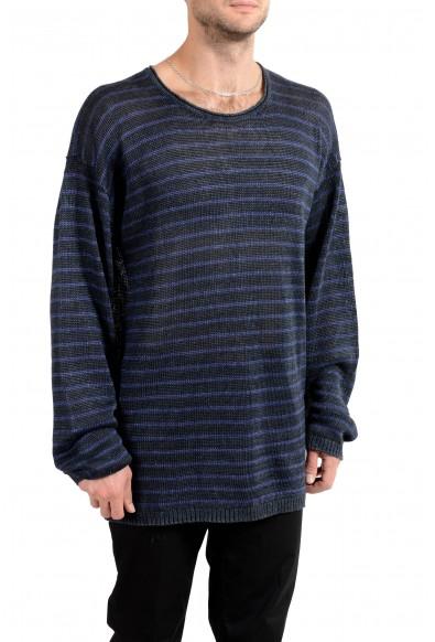 John Varvatos Star USA Men's 100% Linen Striped Crewneck Sweater : Picture 2