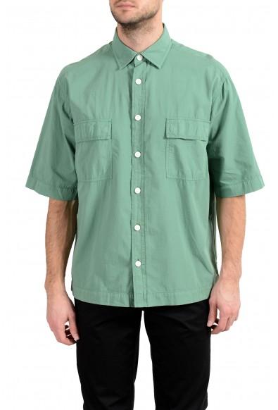 "Hugo Boss ""Leisure"" Men's Relaxed Fit Green Short Sleeve Casual Shirt"