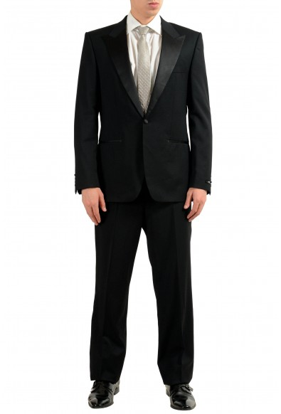 "Hugo Boss ""Caiden/GlamzUS"" Men's 100% Wool Black Tuxedo One Button Suit"