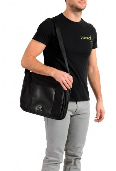 Roberto Cavalli Men's Black Shoulder Messenger Bag: Picture 2