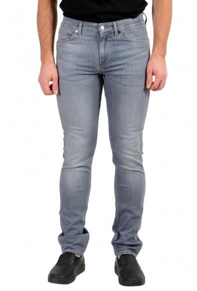 "Hugo Boss Men's ""Delaware3"" Slim Fit Gray Lightweight Stretch Jeans"