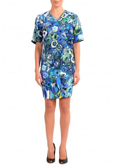 Just Cavalli Women's Multi-Color V-Neck Bodycon Dress