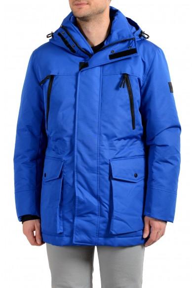 "Hugo Boss Men's ""Demos"" Blue Hooded Long Down Mountain Parka Jacket"