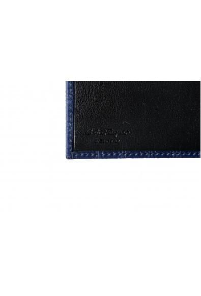 Salvatore Ferragamo Men's Navy Blue 100% Leather Logo Print Bifold Wallet: Picture 2