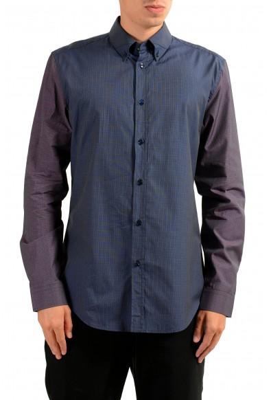 Versace Men's Two Tones Long Sleeve Dress Shirt