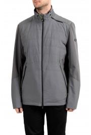 """Hugo Boss """"Jamick Pro"""" Men's Gray Zip Windbreaker Jacket"""