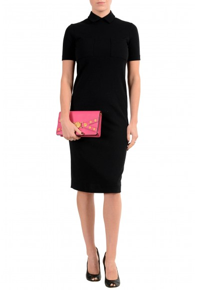 Versace Women's Tribute Pink Leather Clutch Shoulder Bag: Picture 2