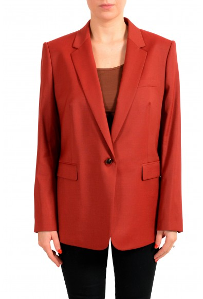 """Hugo Boss Women's """"Janufa1"""" Red 100% Wool One Button"""