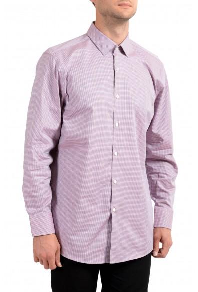 "Hugo Boss Men's ""Marley US"" Sharp Fit Plaid Long Sleeve Dress Shirt"
