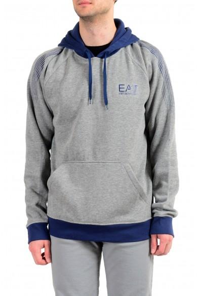 "Emporio Armani EA7 ""Train Core"" Men's Gray Fleece Hoodie"