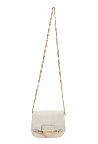 "Jimmy Choo Women's Silver Leather ""Shadow"" Shoulder Crossbody Bag"