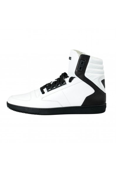 Versace Men's White Leather Hi Top Fashion Sneakers Shoes: Picture 2