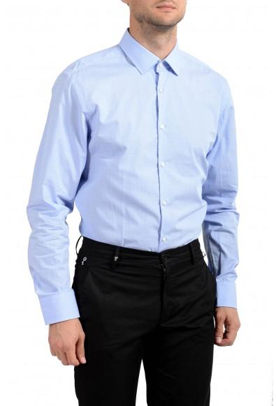 "Hugo Boss Men's ""Marley US"" Sharp Fit Blue Long Sleeve Dress Shirt: Picture 2"