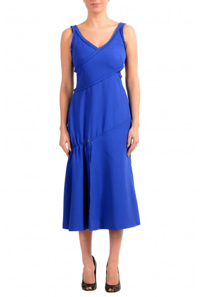 "Hugo Boss Women's ""FD_Demania_C"" Blue Sleeveless Midi Dress"