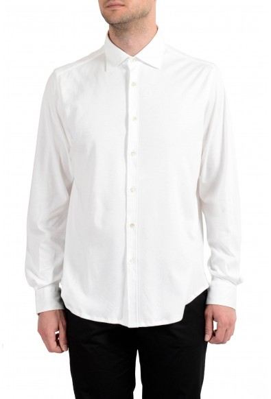 Malo Men's White Long Sleeve Dress Shirt