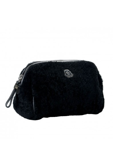 """Moncler """"Beauty Grande"""" Black Leather Trim Women's Cosmetic Bag: Picture 2"""