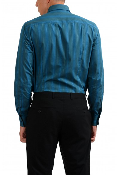 """Versace Collection """"Trend"""" Men's Striped Green Dress Shirt : Picture 2"""
