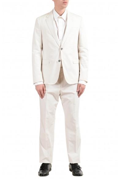 "Hugo Boss ""Nylen1/Pery1"" Men's Off White Slim Two Button Suit"