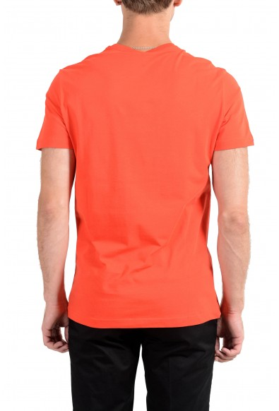 Versace Jeans Men's Orange Graphic Crewneck Short Sleeve T-Shirt: Picture 2