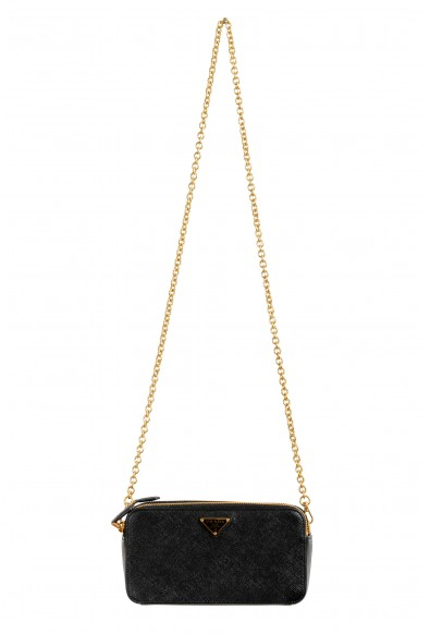Prada Women's 1DH010 100% Saffiano Leather Chain Mini Shoulder Bag