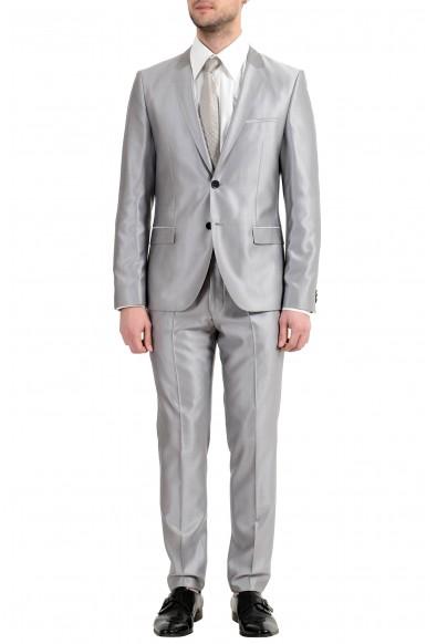 "Hugo Boss ""Arti/Hesten"" Men's Silk Wool Silver Gray Two Button Suit"
