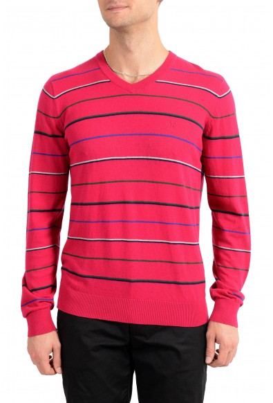 Armani Jeans Men's Wool Cashmere Striped Pullover Sweater