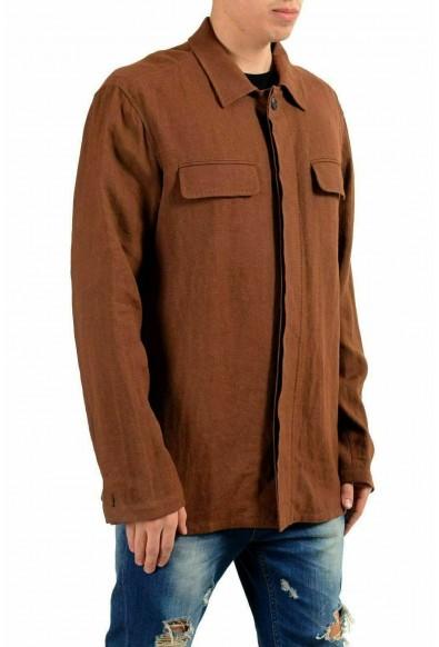 Malo Men's Linen Brown Shirt Style Light Jacket: Picture 2
