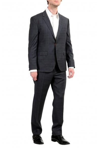 "Hugo Boss ""C-Jeffery/C-Simmons"" Men's Wool Plaid Gray Two Button Suit: Picture 2"