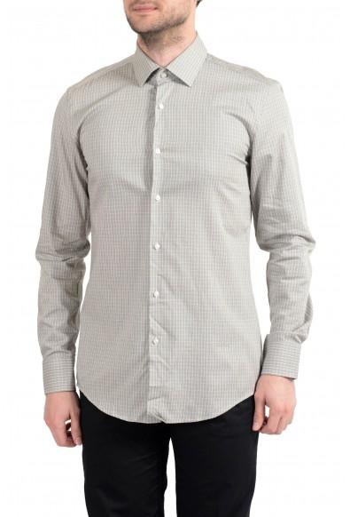 "Hugo Boss ""Jenno"" Men's Plaid Slim Fit Long Sleeve Dress Shirt"