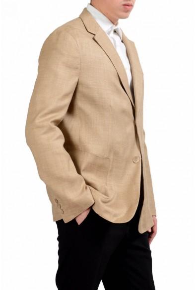 Malo Men's 100% Silk Two Button Light Brown Blazer Sport Coat: Picture 2