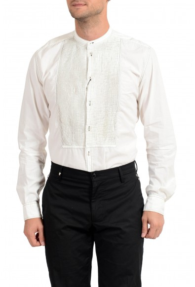 "Dolce&Gabbana ""Gold"" Men's White Long Sleeve Dress Shirt"