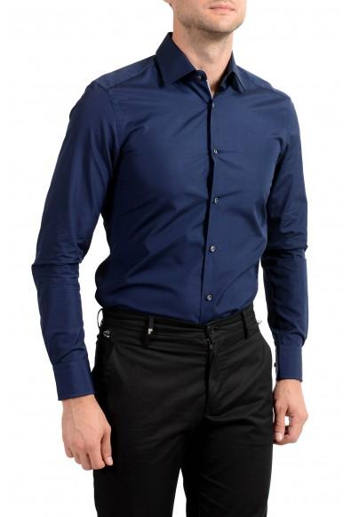 "Hugo Boss Men's ""T-Scott"" Slim Fit Blue Long Sleeve Dress Shirt : Picture 2"